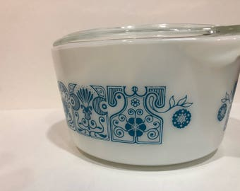 Pyrex Horizon Blue 473 Caserole Dish
