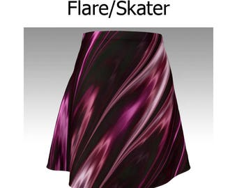 Pink Skirt, Purple Skirt, Pinky Purple, Flare Skirt, Skater Skirt, Fitted Skirt, Bodycon Skirt, Unique Skirt, Cute Skirt, Short Skirt, Women