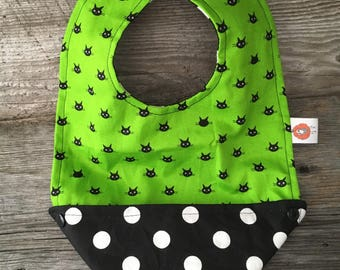 Baby bib bib changing 4 in 1 baby pea green red cat black