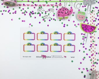 Movie marquees, rainbow, stickers for the Happy Planner, Item # W432