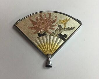 Vintage signed Elegance Fan Mirror Pendant