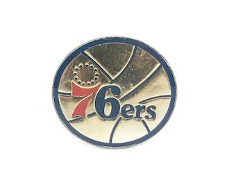 Vintage Philadelphia 76ers Enamel Pin