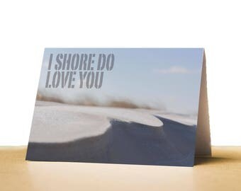 Shore Love Printable Valentines Day Card for Husband, Wife, Valentines Card for Boyfriend, Girlfriend, Instant Download, Beach Valentine