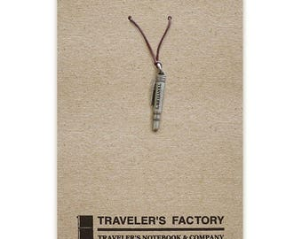 Traveler's Factory TF Charm Brass Pen pattern 07100019 Traveler's Notebook  Midori Designphil Material Tin Free Shipping