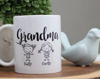 Grandma's Personalized Custom Coffee Mug Cup Gift, Quick Shipping