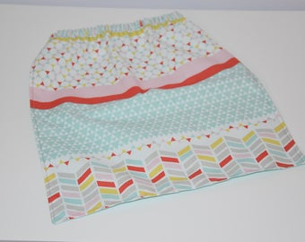 Napkin / canteen elasticated - 2/4 years - fabric way Patchwork - multicolored tones / 00401
