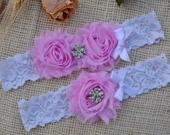 Light Purple Garter, Purple Bridal Set,Toss Garter, Crystal Bridal Gift, Lavender Garter Set, Wedding, Violet Garter Set, Flower Garter Set