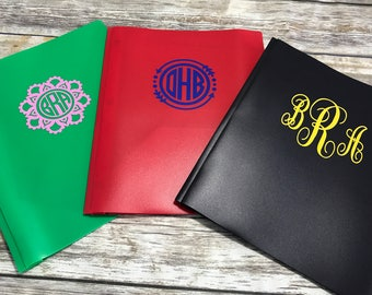 Monogrammed Folder, Personalized School Supplies, Monogrammed School Folder, Personalized Folder, Back To School, Teacher Supplies
