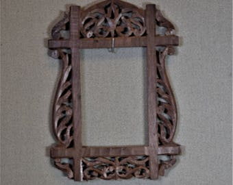 Carved Wood Picture Frame 5x7 Photo Frame