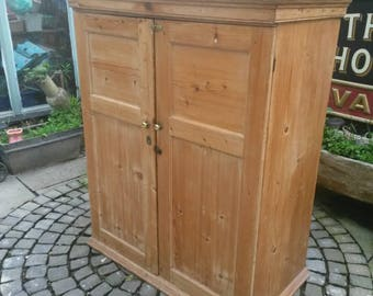 NOW SOLD!!   Antique rustic pine cupboard /kitchen cabinet multitude of uses.