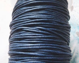 Blue Waxed Cotton Cord, 1.5mm Wide Blue Cotton Cord, Blue Necklace Cord, Bracelet Cord Lace String Rope, Beading Supplies