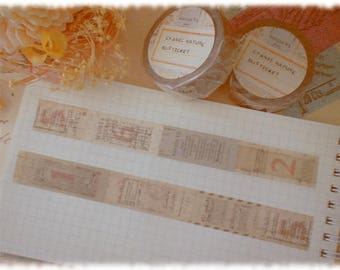 Cyanic nature bus tickets designed Masking tape washi tape entire roll (10.9yd)  decal mt0008