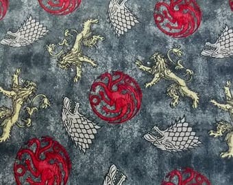 Game of Thrones Fabric House  Stark Fabric House  Lannister Fabric House  Targaryen Fabric Game of Thrones Cotton Fabric