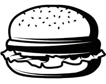 Burger #1 Grill Grilling Hamburger Cheeseburger Barbecue Butcher Cooking Cook Chef Food BBQ Logo .SVG .EPS Vector Cricut Cut Cutting File