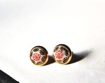 Boho Ear Studs/ Boho Earring Studs/ Boho Small Studs/ Gold Round Studs/ Stud Floral Earrings/  Gold Stud/ Small Studs/ Tiny Studs/ Studs