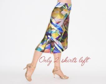 SALE *** D ARIENZO Asymmetric Skirt - Summer Print