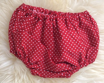 Polka Dot Over-Nappy Knickers, Daiper Cover, Nappy Cover, Contemporary Design Fabric
