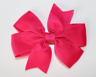 Hot pink bow hair clip for girl