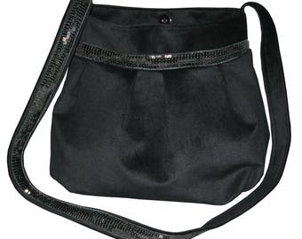 Bag Black purse and black sequined band