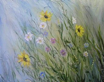 Wild flowers - mixed media