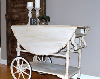 Refinished Serving Tea Cart