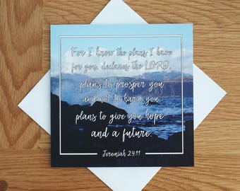 Bible Verse - Quote - Photography Greetings Card - 148 x 148 - Jeremiah 29 - Blank Inside - Any occasion