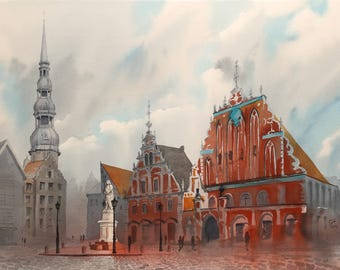 Town Hall Square. Old Riga