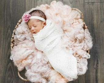 Newborn Fluff, Wool Basket Filler~ Newborn Photography Prop