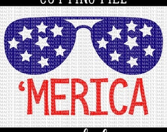 Merica Svg, July 4th Svg, 4th of July SVG, 4th of July Cutting File, 4th of July DXF, Silhouette, Cricut, PNG, Dxf, July 4th Cut File