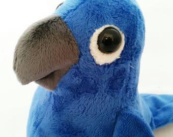 Parrot teddy, blue Parrot,plush parrot, parrot plush, bird teddy,tropical bird, bird plush, bird, parrot,macaw,exotic bird, bird of paradise
