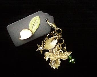 Woodland Dragonfly clip on charm. Inspired by Sherwood Forest. Gift bagged & Gift tagged. Bronze coloured.