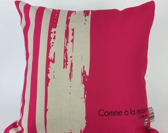 Decorative pillow / cushion rose / pattern river sea /coussin washable/St-Jean-sur-Richelieu/Quebec cm - 03