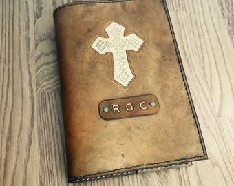 Bible Cover, Custom Bible, KJV Bible Included, Handmade Leather Bible, Christian Gifts, Religious Gifts, Personalized Bible Cover