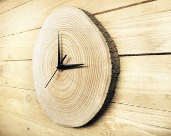 Unique wall clocks, Wall clock wood, big clock, wooden slices, rustic wall clock, wood slice clock, unusual wall clocks,Large wall clock