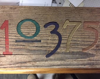Custom Rustic House Numbers