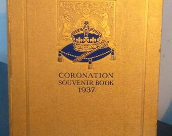 Vintage Coronation Souvenir Book-1937 British Royal Family