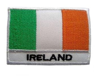 Aufnäher/Bügelbild-Irland Flagge Fahne-Weiß-5.3 x 7.6 cm-by catch-the-Patch ® patch Aufbügler Applikationen zum Aufbügeln Applikation Patches Flicken