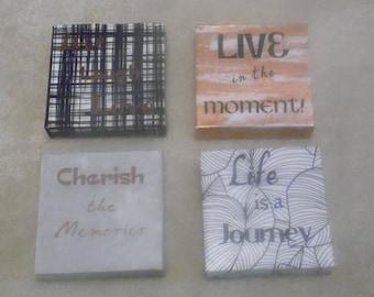 Set of 4 Inspirational Canvasses