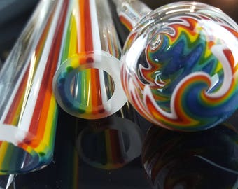 Vac stack - Rainbow to Clear  - Borosilicate glass tubing