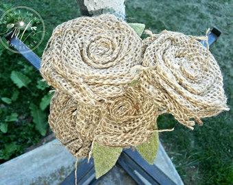Burlap Rose, Burlap Flowers, Rustic Wedding, Burlap Wedding, Rustic Bride Bouquet Flowers, Rustic Decor, Fall Flowers, Burlap Bouquet