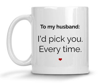 Husband Gift - Husband Valentine Day Gift - Anniversary Gift For Husband - Wife To Husband Gift - Husband Coffee Mug - Funny Husband Mug