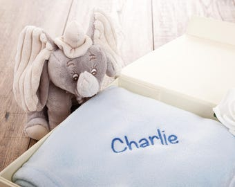 Personalised Baby Blanket - Personalised New Baby Gifts - Embroidered Baby Blankets - Free UK Delivery