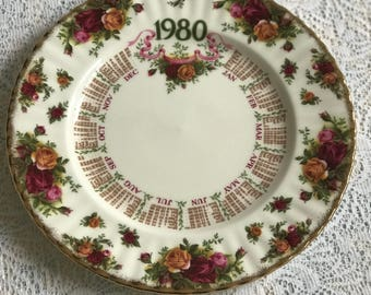 Royal Albert Old Country Roses 1980 Plate