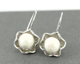 DIY Breast Milk Sterling Silver Pearl in the Lotus Earrings Kit, Do it Yourself DNA Breastmilk keepsake