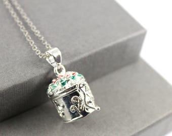 Ashes holder etsy vintage flower locket with fillable glass tube ashes holder urn locket fillable jewelry aloadofball Images
