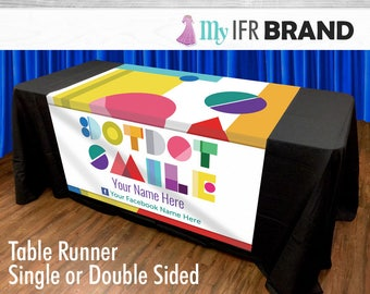 DotDot Smile  Single or Double Sided Table Runner
