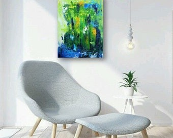 Original abstract painting, artwork on canvas,acrylic, modern art.