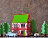 Bavaria Red wooden house / nightlight / miniature house / architectural model