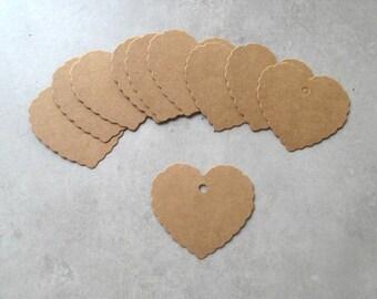 Set of 50 cardboard heart shape