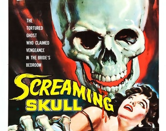 The Screaming Skull Movie 1958 Cult Horror Film Movie Cinema Poster Art Print Decor A4